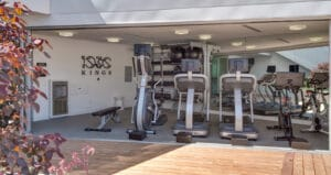 multifamily fitness center los angeles gym design outdoor fitness area