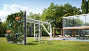 Outdoor fitness spaces with Forbes Magazine and Fitness Design Group