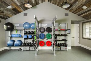 Pacific Palisades Family Home Gym - Gym Rax
