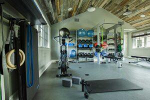 Pacific-Palisades-Family-Home-Gym-bike-hyperice-gym-rax-cross-fit-gym-storage