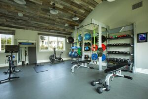 Pacific-Palisades-Family-Home-Gym-gym-rax-peloton-cross-fit