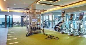 Lennar Oceanaire apartment fitness center gym design by Aktiv solutions