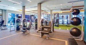 Lennar Oceanaire fitness center with nautilus strength fitness equipment gym design by aktiv