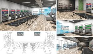 gym design and gym floor plan