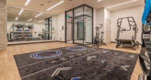 Aktiv Academy multifamily fitness center gym design at Greystar