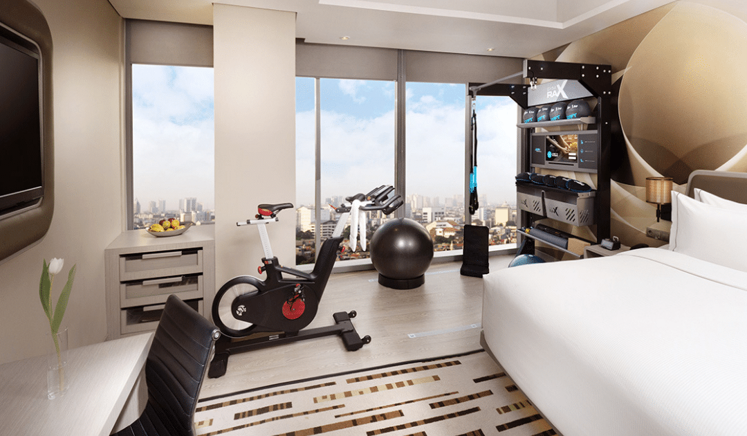 Hotel Gym In Room Fitness Suite Hilton Fitness Design Group