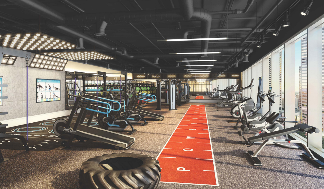 Accor Hotel Gym Design with Aktiv Functional Fitness Equipment and Gym Flooring